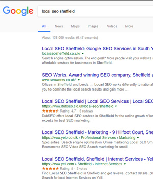 The service we offer to optimise your website for the organic Google listings.