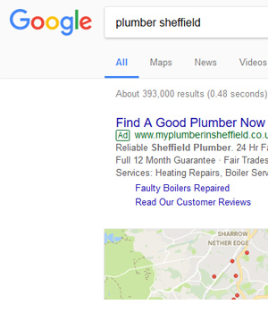 The local paid advertising option is Google Pay per click advertising